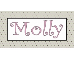Kids Tan Polka Dot Name Art - 16
